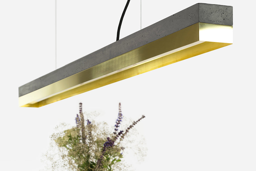 [C1] Series Concrete & Metal Led 122CM, GANTlights Berlin- D40Studio