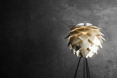 SILVIA Brushed Brass Floor Lamp, VITA Copenhagen- D40Studio
