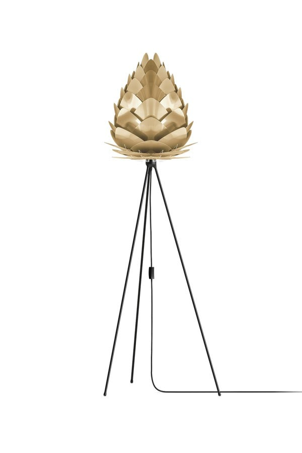 CONIA Big BRUSHED BRASS Floor Lamps, VITA Copenhagen- D40Studio