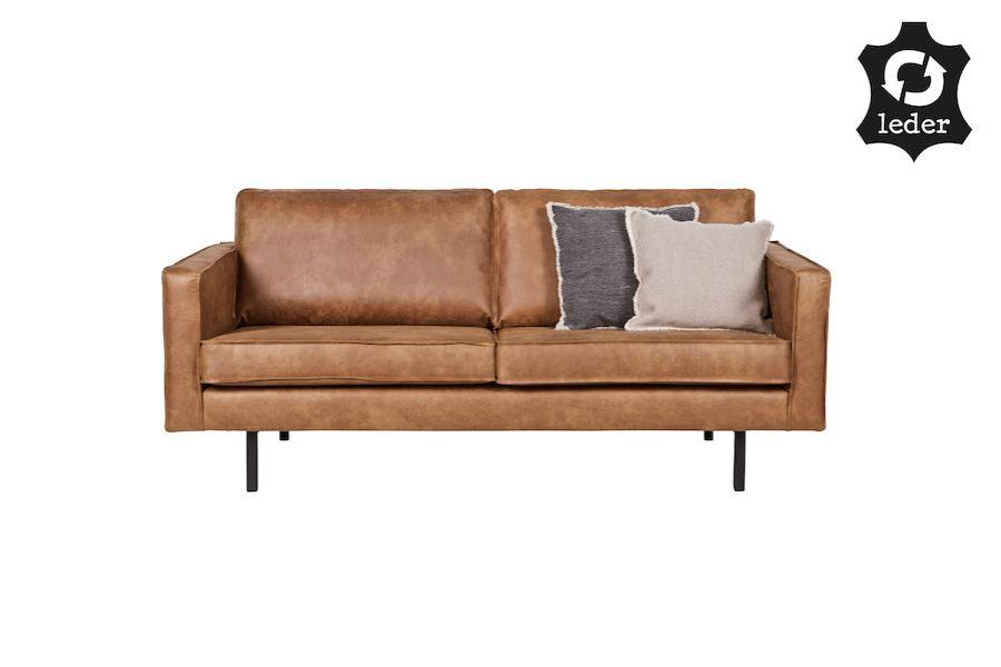 LOFT Cognac Rodeo Leather Sofa 190CM