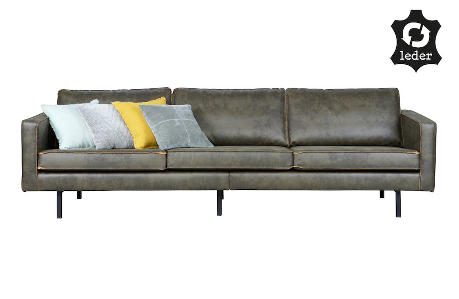 ... LOFT Army Green Leather Sofa 277CM, Be Pure Home  D40Studio ...