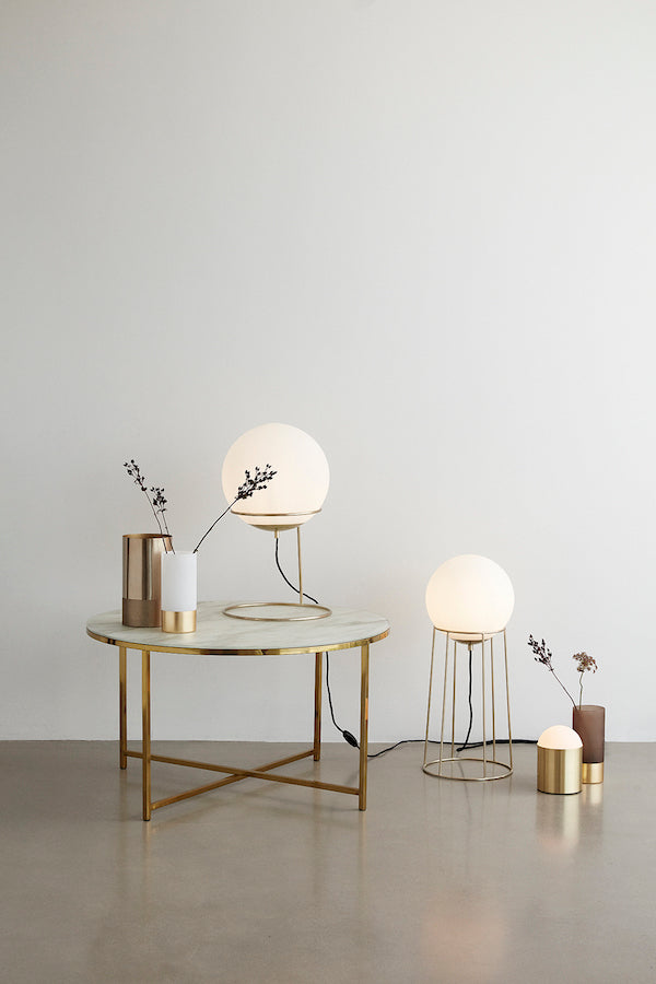 HÜBSCH Opal Brass Table Lamp 53 CM, Hübsch- D40Studio