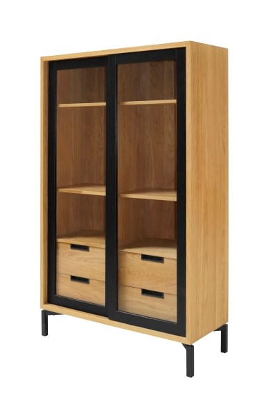 APARTMENT Glass High Cabinet, Interstil- D40Studio