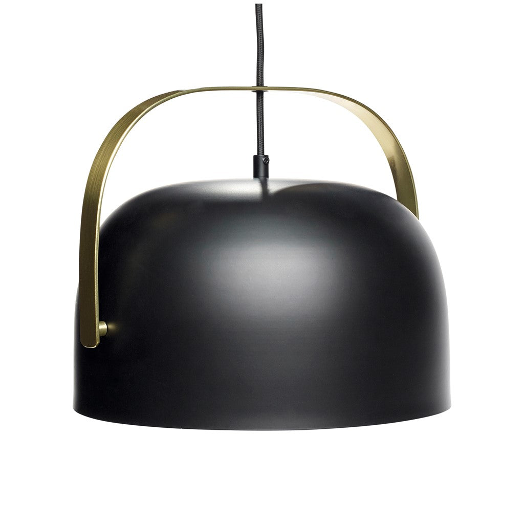 HÜBSCH Black Metal Pendant Light 30CM