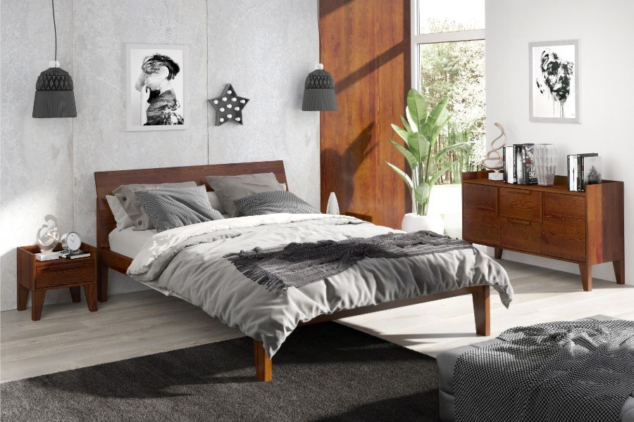 AGAVA Walnut Single & Double Bed