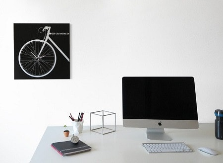 BIKE Wall Clock, Black 50 CM, dESIGNoBJECT- D40Studio
