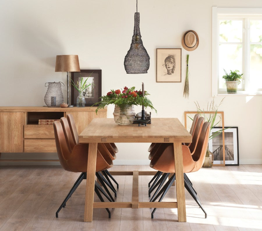 BROOKLYN OAK Dining Table 220/320CM, ROWICO- D40Studio
