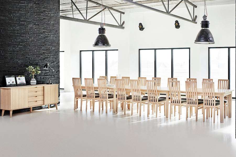 Turbo dining table 140 160 180 cm d40studio for Super table ld 99