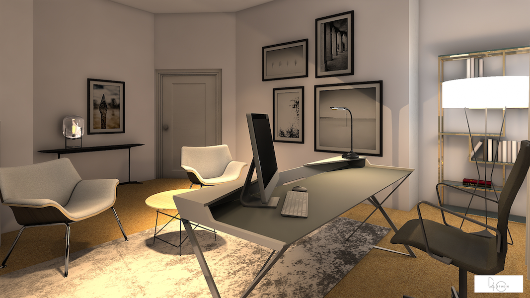 3D Interior Design Project for One Room