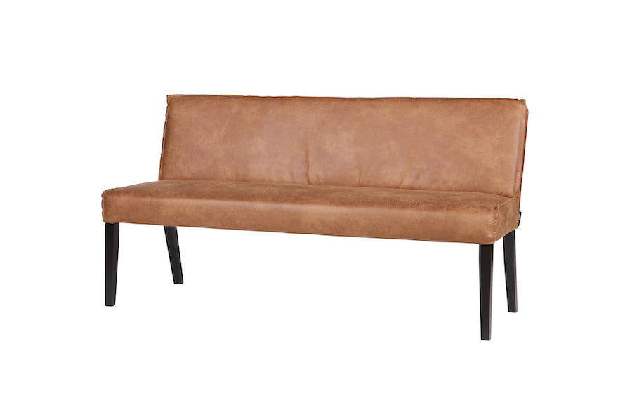 LOFT Cognac Leather Dinner Bench, 20 - 25 Day Delivery- D40Studio
