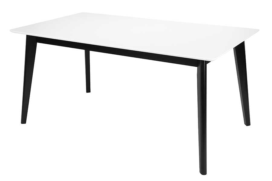 CENTURY Dining Table White&Black 160/250CM, Next Day Delivery- D40Studio