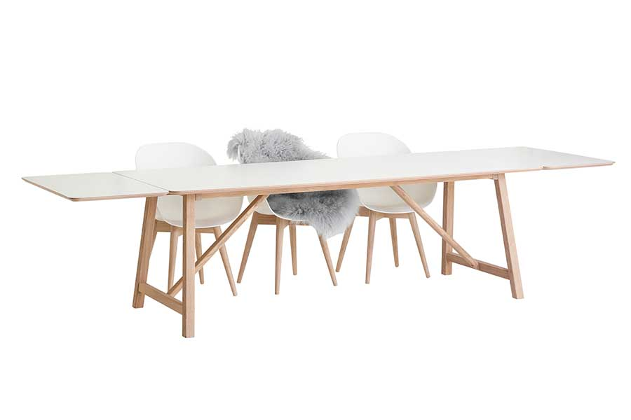 DRAGØR 502 White Extending Table 220/320 CM, CASØ- D40Studio