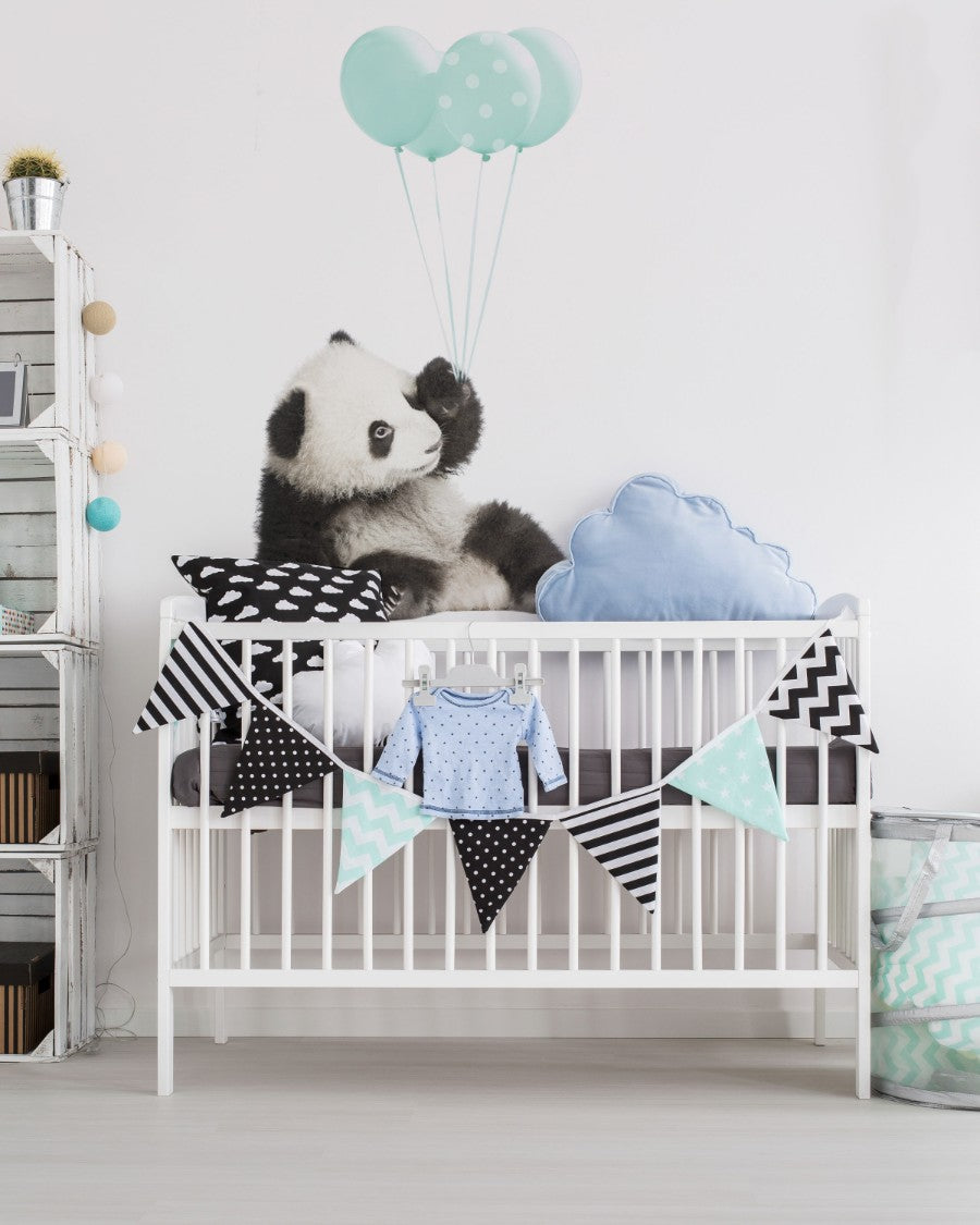 PANDA WITH BALLOONS Wall stickers