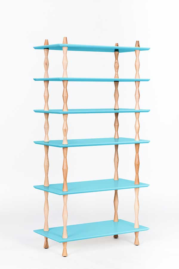 atta says girl bookcase indigo turquoise bookshelf blue makeover painted