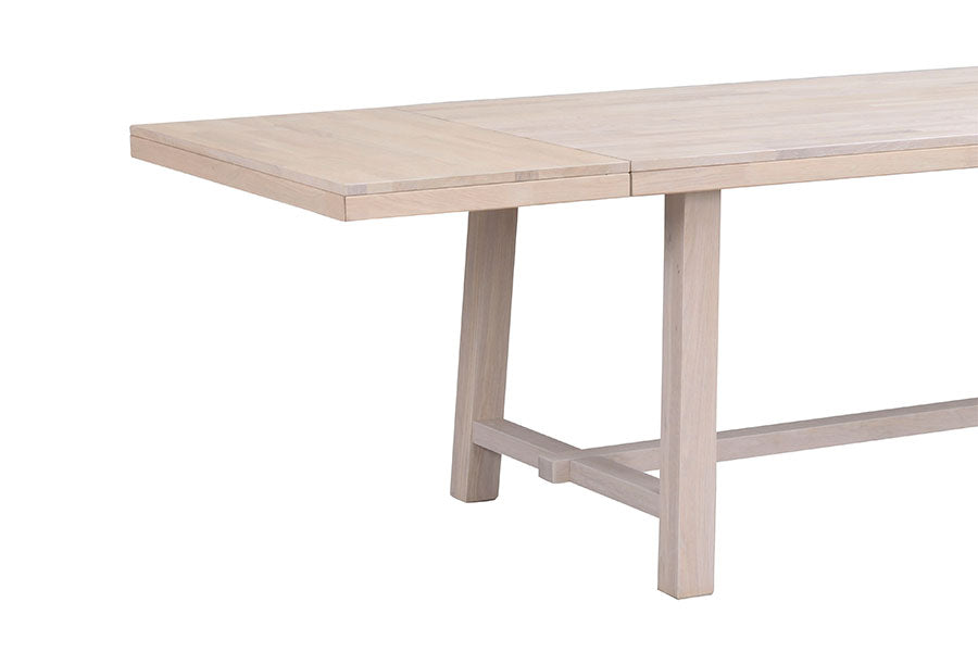 BROOKLYN Whitewashed Oak Dining Table 220/320CM