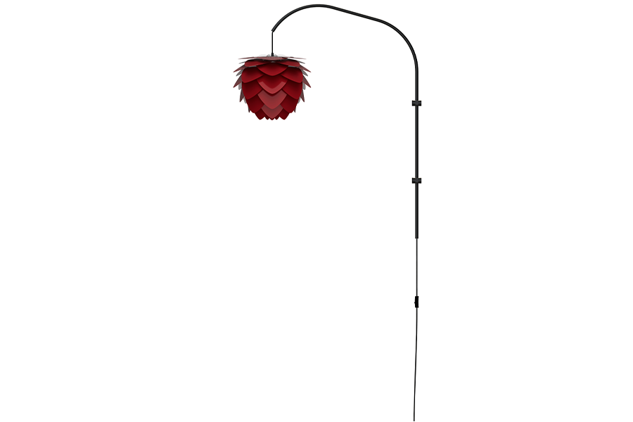 ALUVIA WILLOW RUBY RED Wall Lamp, UMAGE/VITA Copenhagen- D40Studio