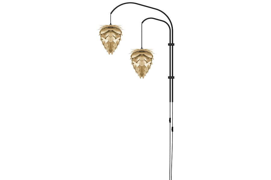 CONIA DOUBLE WILLOW BRUSHED BRASS Wall Lamp, UMAGE/VITA Copenhagen- D40Studio