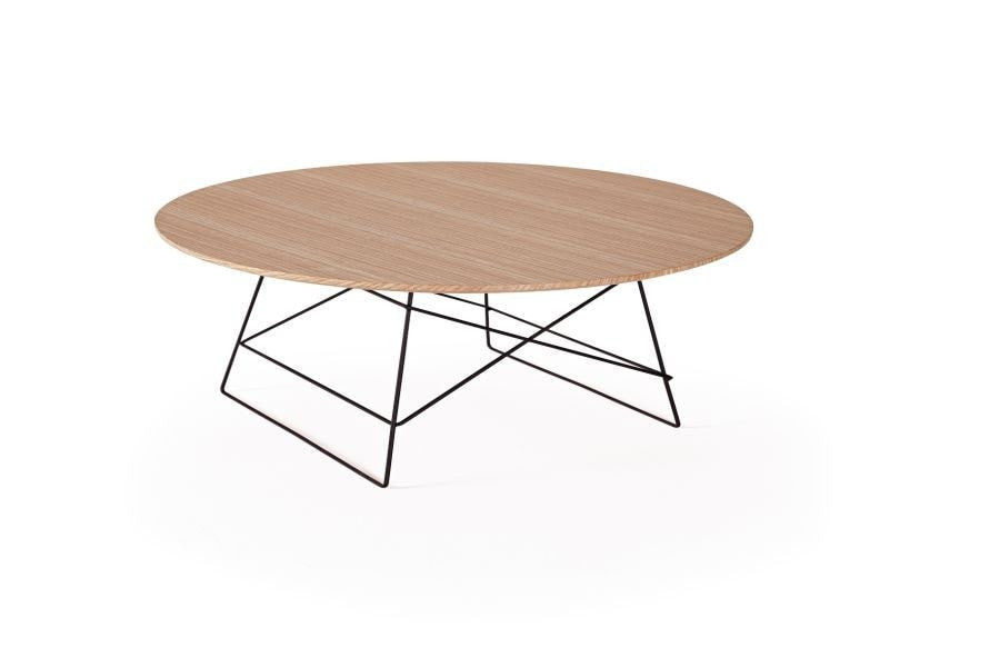GRID OAK Round Large Coffee Table Ø 70, Innovation- D40Studio