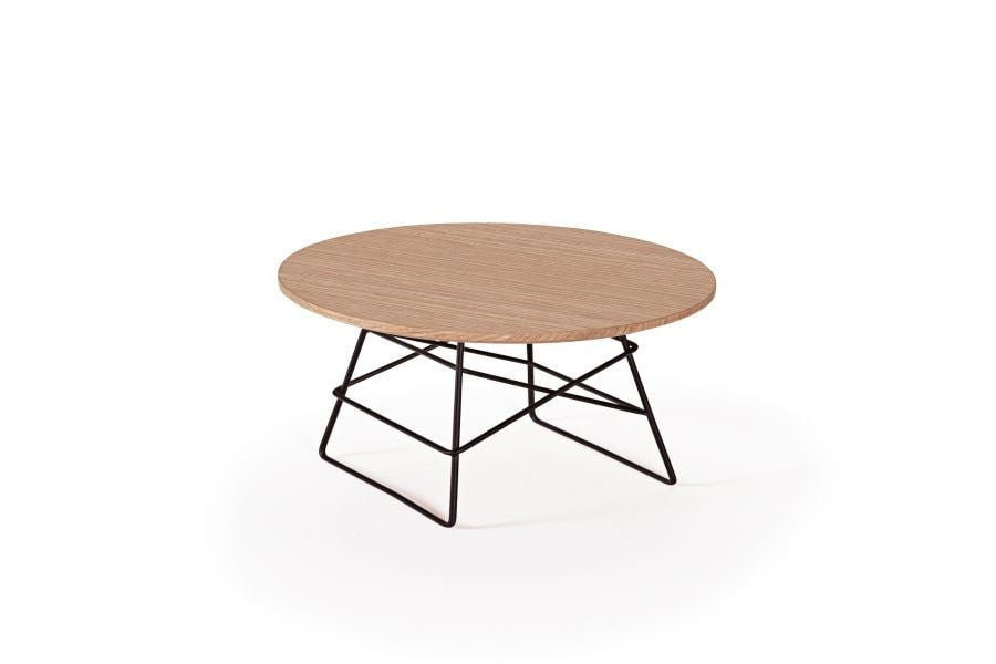GRID OAK Round Medium Coffee Table Ø 45, Innovation- D40Studio