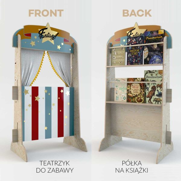 THEATER RETRO Toy and Bookstand 135CM