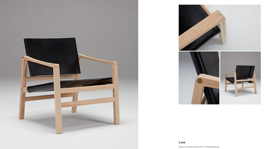LOKE Leather Armchair, D40Studio- D40Studio