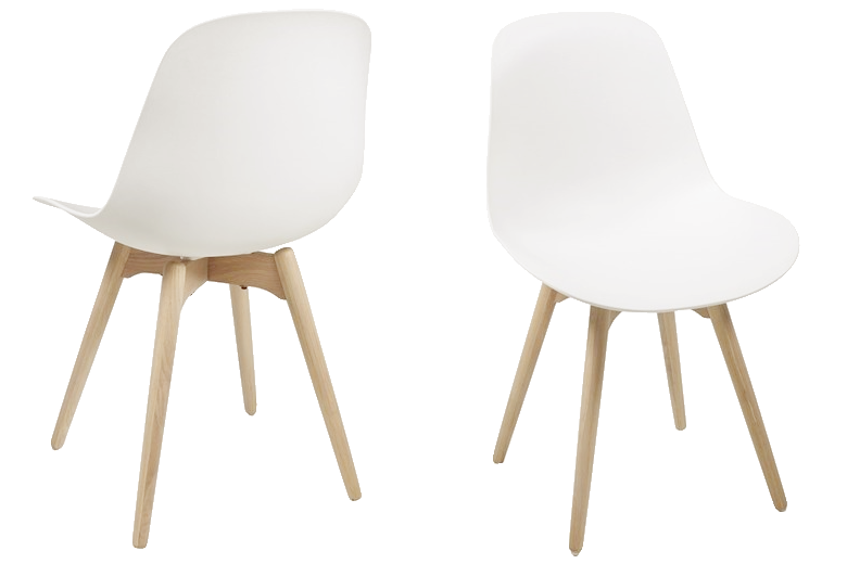 KAI White Set of 2 Chairs, Interstil- D40Studio