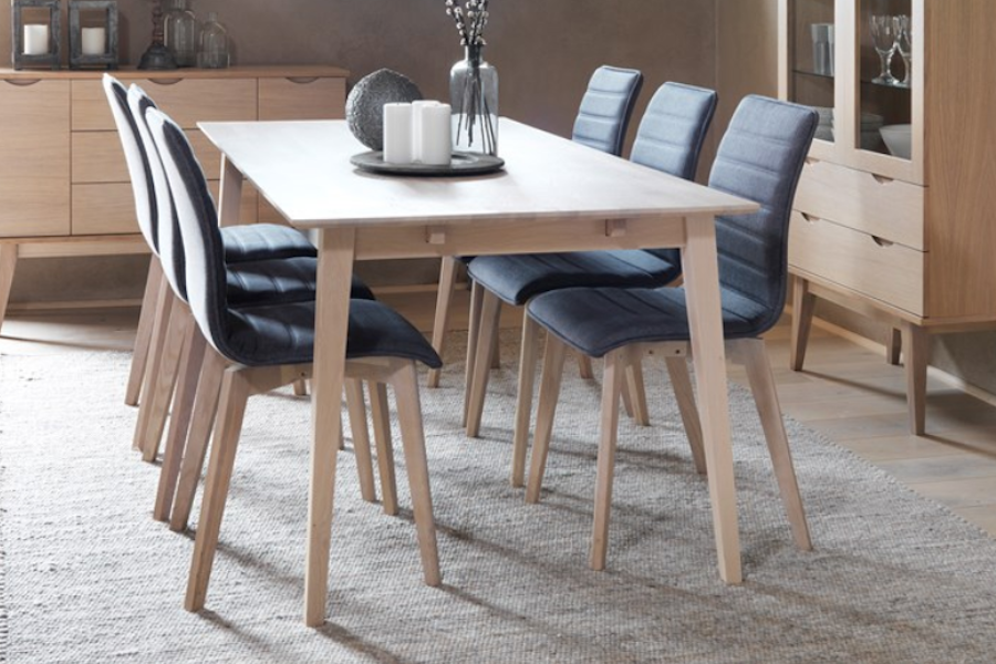 FILIPPA Oak Dining Table 180CM/230CM/280CM, ROWICO- D40Studio