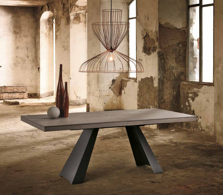 SILVER Central Extending Dining Table