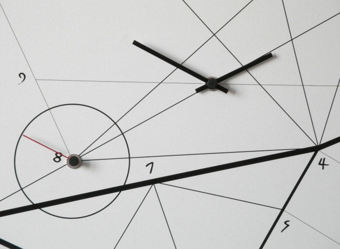 TIME LINE Wall Clock, White 50 CM, dESIGNoBJECT- D40Studio