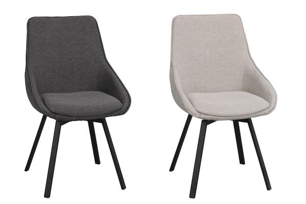 ALISON Swivel Set of 2 Chairs