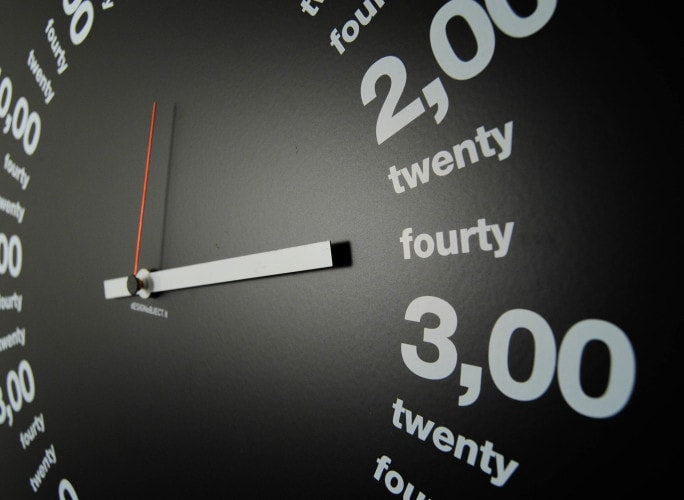 ONLY HOURS Wall Clock 50 CM, dESIGNoBJECT- D40Studio