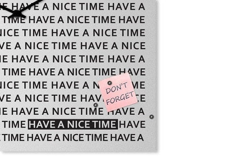 NICE TIME Wall Clock 50 CM & 80 CM, dESIGNoBJECT- D40Studio