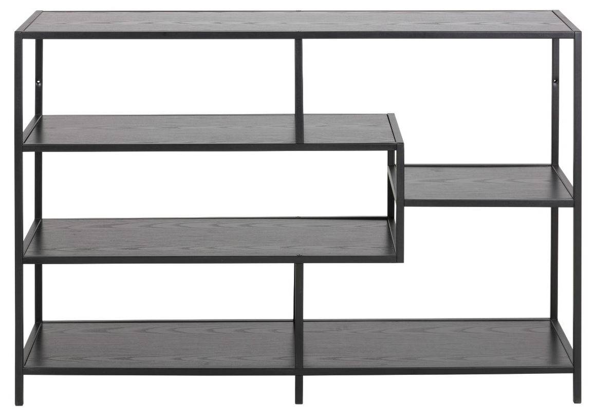 FJORD Low Black Bookshelf