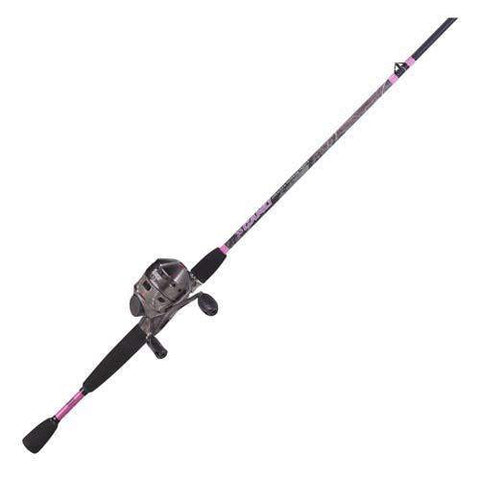 "33 Ladies Camo 6"" 2 Piece Medium, Spincast Combo"