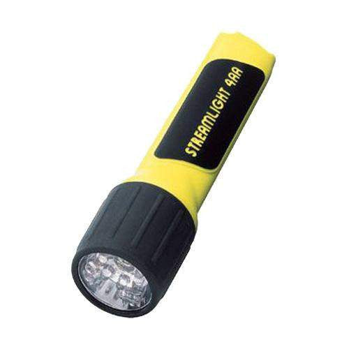4AA LED - Flashlight With Batteries, Yellow (Clam Pack)