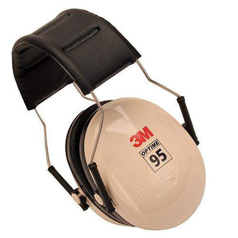 95 Behind-the-Head Earmuffs - Beige-Black