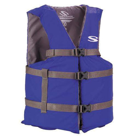 Adult Classic Boating PFD - Oversized, Blue