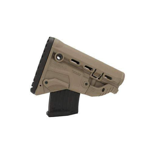 AK-47 Survival Stock w-Mag Carrier - Dark Earth