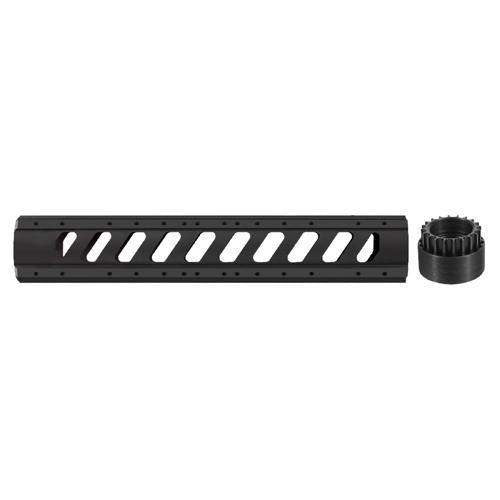 AR-15 Aluminum 6 Side Rifle Length Free Float Forend w-Slotted Barrel Nut