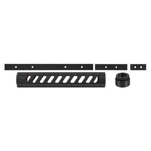 AR-15 Aluminum 6-Side Rifle Length Free Float Forend w-Rail Pack