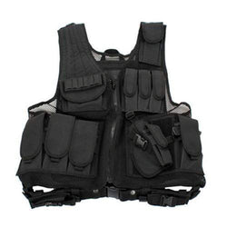 Black Deluxe Tactical Vest - Standard