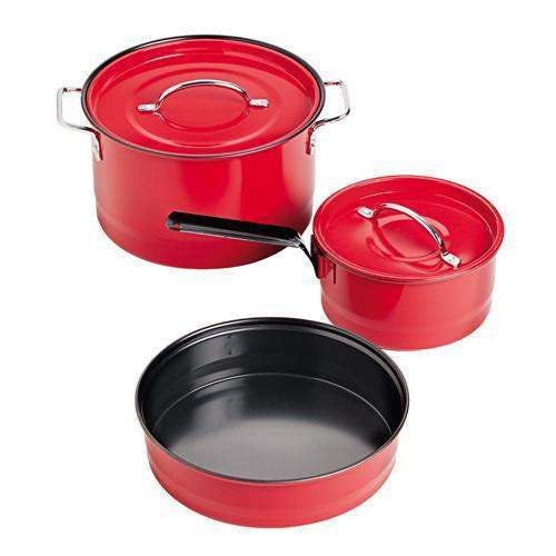 Cookware Family Cookset Red Enamel