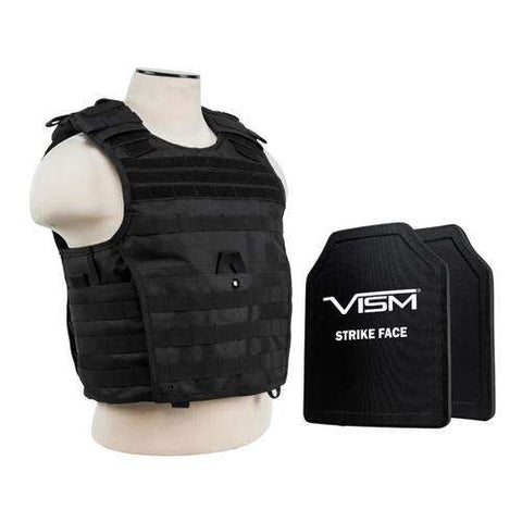 "Expert Carrier Vest with 10"" x 12"" PE Hard Plates - Black"