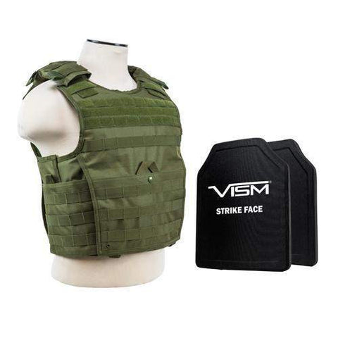 "Expert Carrier Vest with 10"" x 12"" PE Hard Plates - Green"