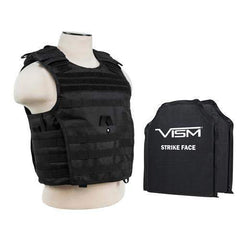 "Expert Plate Carrier Vest with 10"" x 12"" Soft Panels - Black"