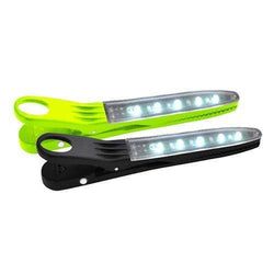 Fire Clip LED Light, Green-White. 2 Pack