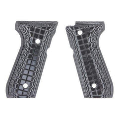 G-10 Tactical Pistol Grips - Beretta 92 FS, Gray-Black Coarse