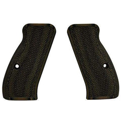 G-10 Tactical Pistol Grips - CZ 75 Compact, Green-Black, Fine
