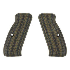 G-10 Tactical Pistol Grips - CZ 75, Green-Black Coarse