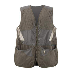 Mens Summit Vest, Green-Dark Gray - Large